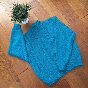 TJW by Mervyns Teal Turtle Neck Sweater